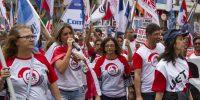 Cerca de 1200 trabalhadores vão às ruas contra as Reformas
