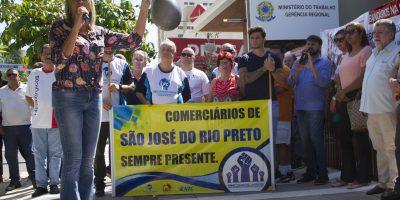 imagem - Sincomerciários participa de manifestação contra o fim do Ministério do Trabalho