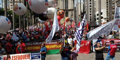 imagem - Centrais sindicais protestam contra à reforma da Previdência