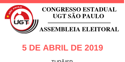 imagem - UGT realizará Congresso e Assembleia Eleitoral em Tupã