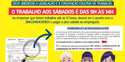 imagem - JORNADA DE TRABALHO AOS SÁBADOS