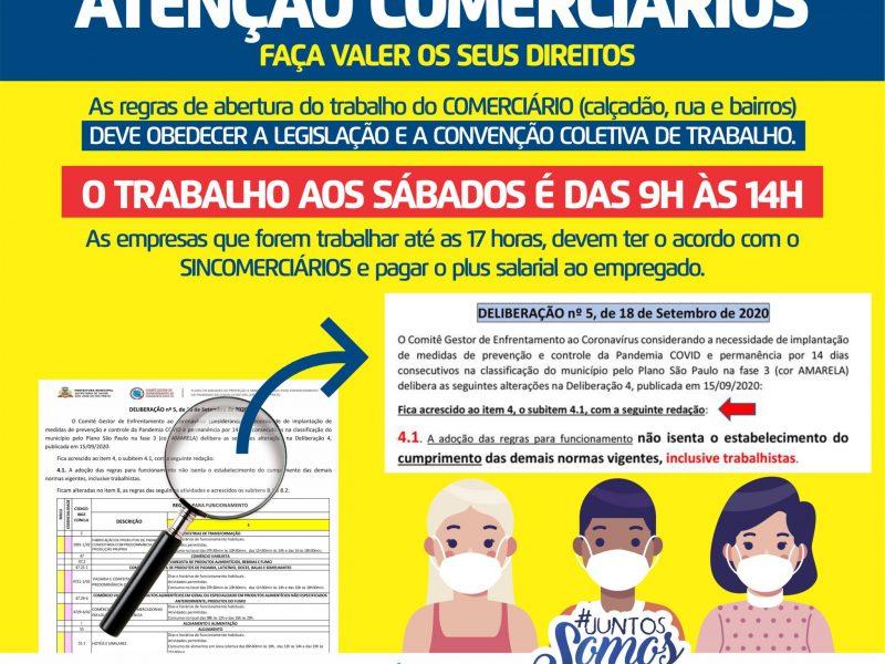 JORNADA DE TRABALHO AOS SÁBADOS
