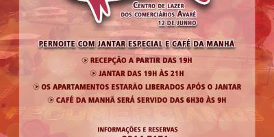 imagem - Centro de Lazer dos Comerciários em Avaré prepara programação especial para o Dia dos Namorados