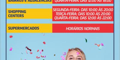 imagem - Sindicato informa sobre o horário do comércio neste carnaval