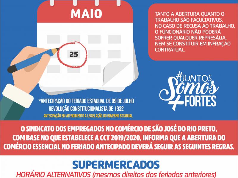 ANTECIPAÇÃO DO FERIADO EM SÃO JOSÉ DO RIO PRETO