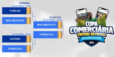 imagem - Times avançam de fase na Copa Comerciária Virtual de Futsal de Rio Preto