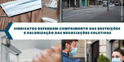 imagem - Sindicatos defendem cumprimento das restrições e Valorização das Negociações Coletivas