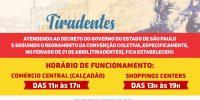 Imagem - Feriado Tiradentes: Veja como fica o horário de funcionamento do Comércio em Rio Preto