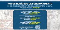 Novo horário de funcionamento do comércio conforme atualização do Plano São Paulo
