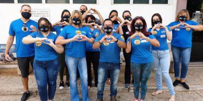 imagem - Diretoria e funcionários dão início à campanha Sangue Comerciário no Hemocentro
