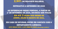 Convenção Coletiva 2020/2021 é assinada e garante o recebimento de abono retroativo