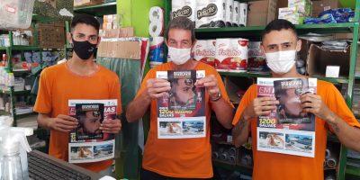"""imagem - Comerciários recebem nova edição do jornal """"Em Notícias"""""""