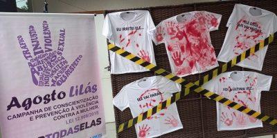 imagem - AÇÕES DO AGOSTO LILÁS ALERTAM SOBRE A VIOLÊNCIA CONTRA A MULHER