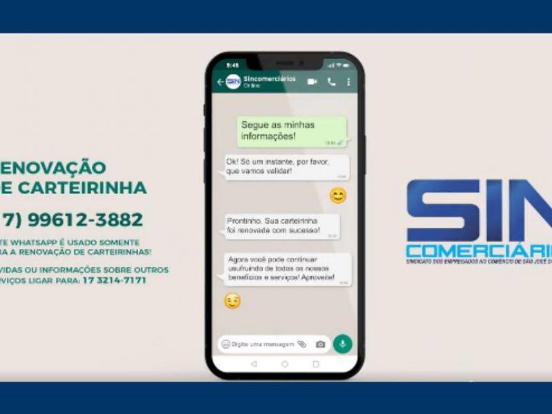 Associados agora podem renovar carteirinha pelo WhatsApp