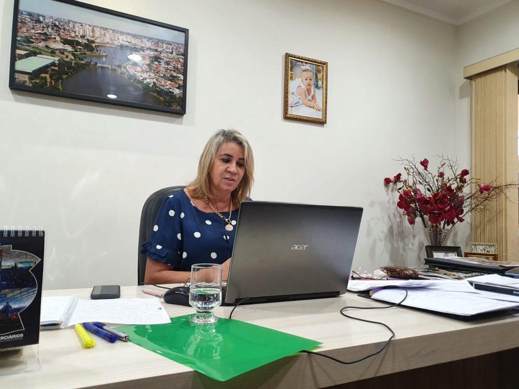 Presidente Márcia Caldas palestrou do evento virtual promovido nesta manhã.